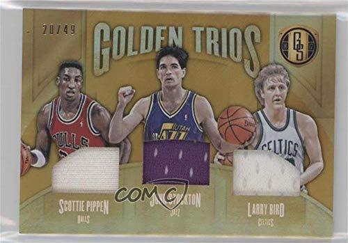 (Larry Bird; John Stockton; Scottie Pippen #20/49 (Basketball Card) 2016-17 Panini Gold Standard - Golden Trios #21)