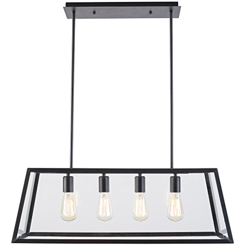 Rectangular Glass Pendant Lighting - 1