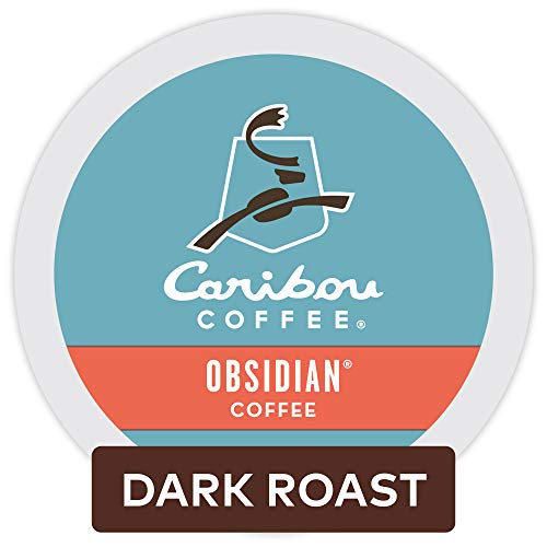 Caribou Coffee Obsidian Single Serve K-Cup Pod, Dark Roast Coffee, 72 Count