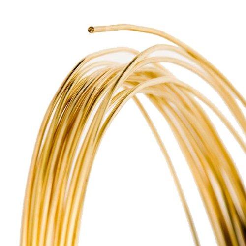 (18 Gauge Round Half Hard Red Brass Wire - 25FT)