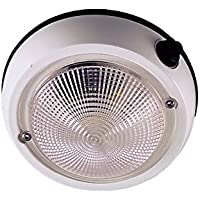 Perko 1253DP1WHT Exterior Surface Mount Dome Light, 4-Inch