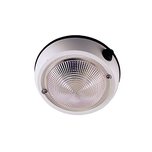 Perko 1253DP1WHT Exterior Surface Mount Dome Light, 4-Inch - Freeport Bath
