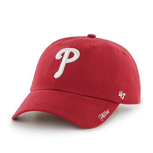 MLB Philadelphia Phillies Women's '47 Miata Clean Up Adjustable Hat, Red