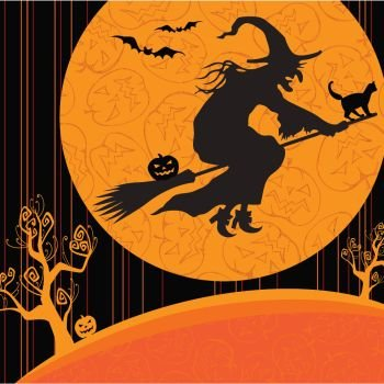 (Witch's Crossing Halloween Lunch Napkins 18 Per Pack )