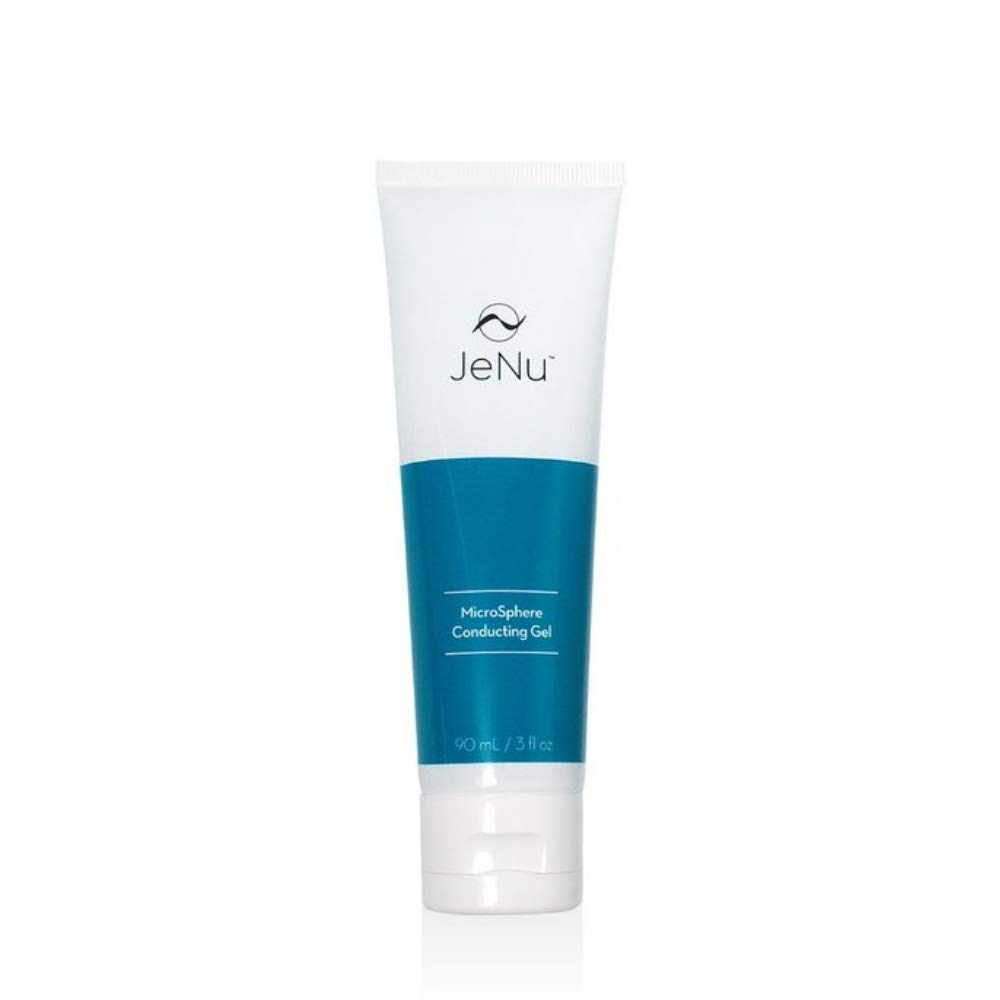JeNu by Trophy Skin MicroSphere Conducting Blue Facial Anti-Aging Skin Rejuvenation Gel for JeNu Plus Ultrasonic Infuser, 3 Ounce
