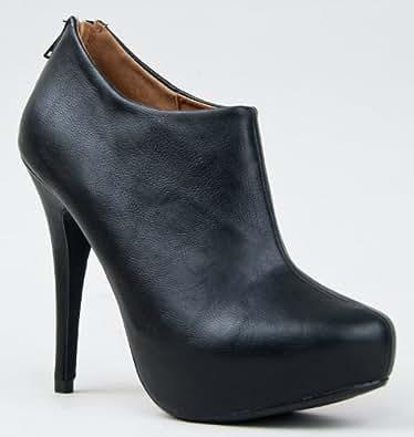 BANK Classic Platform High Heel Stiletto Basic Ankle Boot Bootie