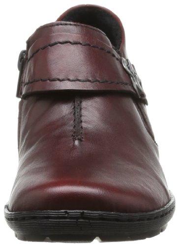 Rieker 57152-43 57152-43 - Zapatos clásicos de cuero para mujer Rojo (Rouge (35 Medoc))