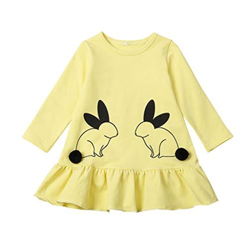 Toddler Kid Baby Girls Clothes Cute Cartoon Rabbit Cotton Pr