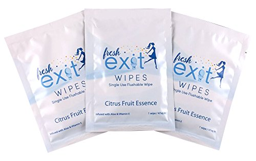30 Individually Wrapped Flushable Wipes 30 Count Bathroom Wipes Perfect For Travel Made By