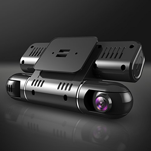 Pruveeo MX2 Dash Cam Front and Rear Dual Camera for Cars, 240 Degree Wide Angle Driving Recorder DVR by PRUVEEO (Image #4)