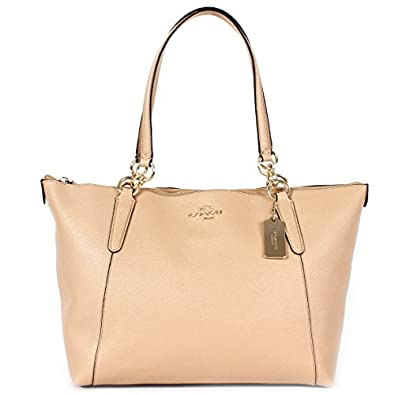 Amazon.com: Coach Crossgrain Leather Ava Tote F57526 Beechwood: Shoes