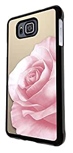 294 - Shabby Chic Floral Pink Rose Design For Samsung Galaxy Alpha Fashion Trend CASE Back COVER Plastic&Thin Metal