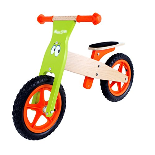 Taxi Pedal Car - Scooters Self Balancing Balance Bike Child Sports Training Taxi Bike No Pedals Hand Brake 1 Toy car Wooden Bike 3-7 Years Old Skates (Color : Green-Orange, Size : 5483cm)