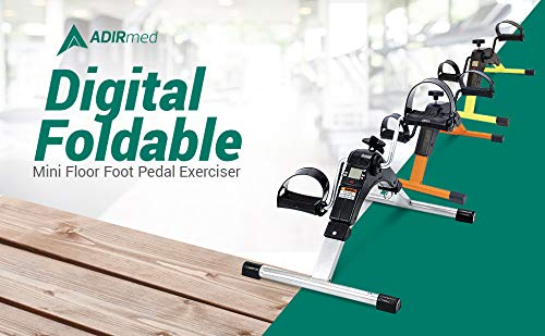 AdirMed Digital Foldable Mini Floor Foot Pedal Exerciser Leg Machine - Under Desk Exerciser - Fully Assembled No Tools Required (Yellow) by AdirMed (Image #7)