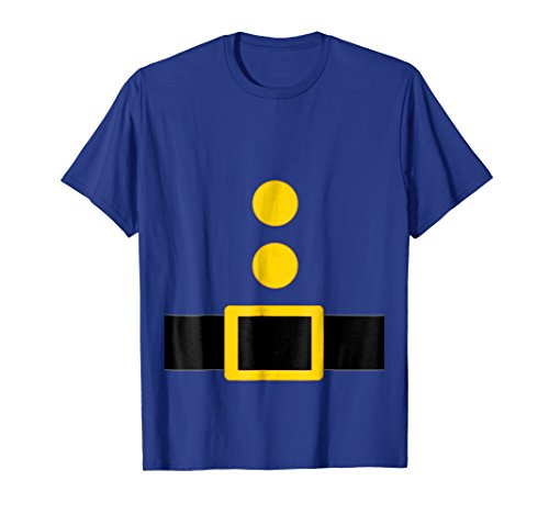 Mens Dwarf Costume T-Shirt Funny Halloween Gift XL Royal Blue -
