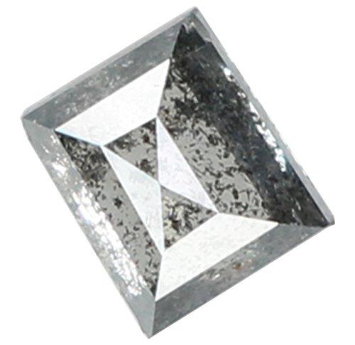 Narshiha Natural Loose Diamonds Rose Cut Baguette Shape Black Grey Color I2 Clarity 3.80 MM 0.32 Ct ()