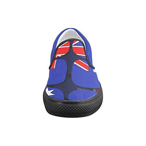 Impronta Digitale Classico La Bandiera Di Australia Uomo Slip-on Scarpe Di Tela