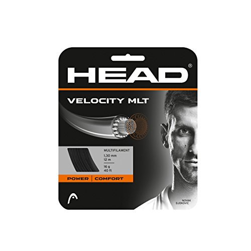 HEAD Velocity Tennis String Set, 17g, Black - Tennis Racket String
