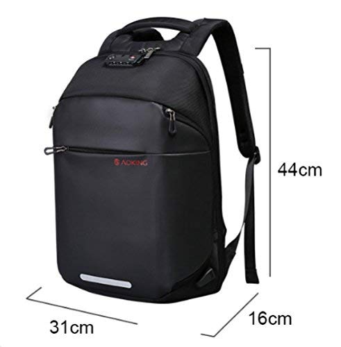 Anti Theft Backpack- Casual, Lightweight, Water Resistant Laptop Bag for Men and Women - Ideal storage for Notebook, Camera, iPad for Travel and Business