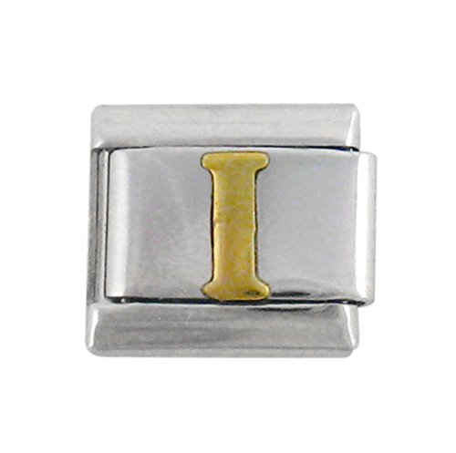 Italian Link Initial Charm, Letter I (Italian Charms I Initials compare prices)