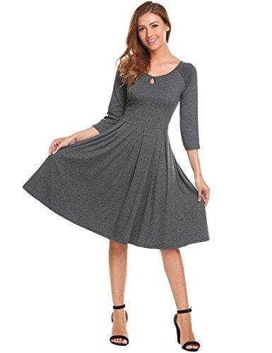 Zipper Front Pleated Dress - 3