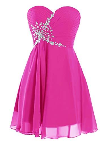 Bridal Beaded Dress Prom up Dress Homecoming Bess Lace Fuchsia Women's Mini Sweetheart fdqqA