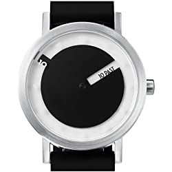 Projects Men Stainless Steel/Silicone Till Watch w/ Steel Face (Black)