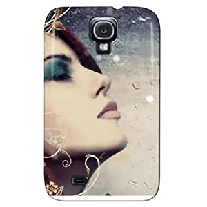 Fashion Design Protection For Galaxy S4 Protective Hard Case Silver HE2SNV