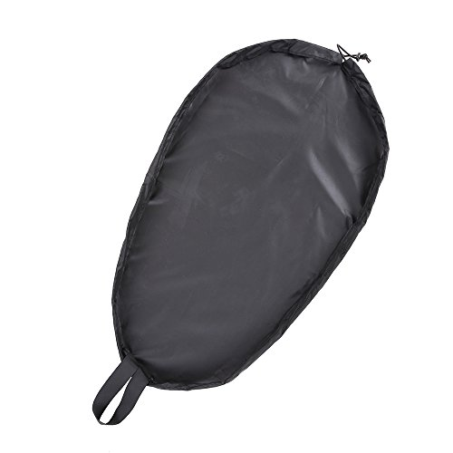 (Docooler Breathable Adjustable UV50+ Blocking Kayak Cockpit Cover Seal Cockpit Protector Ocean Cockpit Cover 5 Sizes Optional Black XL)