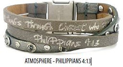 Good Works New Bible Clarity Trio Leather Bracelet ATMOSPHERE Phillippians 4:13