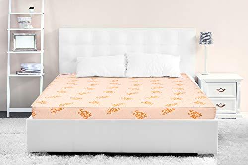 Springwel Endura Plus PU Foam Medium Firm Single Mattress  Beige, 72x30x4 Inch