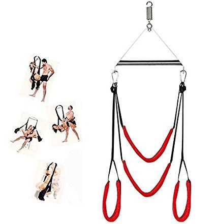 Umitering Deluxe Aerial Hammock Door Swing Inversion Sling Flying Antigravity Indoor Yogo Swing Set - 2nd Generation Adult Swing Set for Bedroom Play Toys for Couples(Red) by Umitering