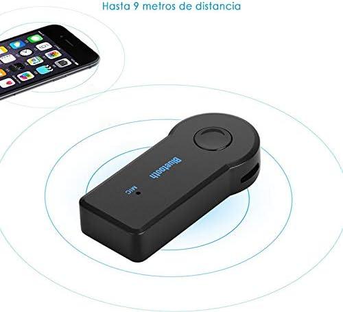Adaptador Bluetooth Coche Manos Libres Coche Receptor Bluetooth para Coche 5.0 Conector Aux 3.5mm Inal/ámbrico para Musica y Llamadas
