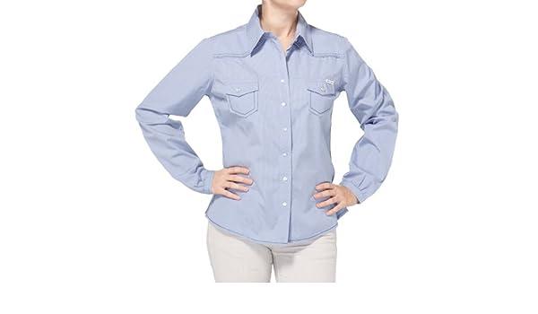 Rica Lewis - Camisa a Cuadros de Manga Larga para Mujer, Talla 36, Color Azul: Amazon.es: Ropa y accesorios