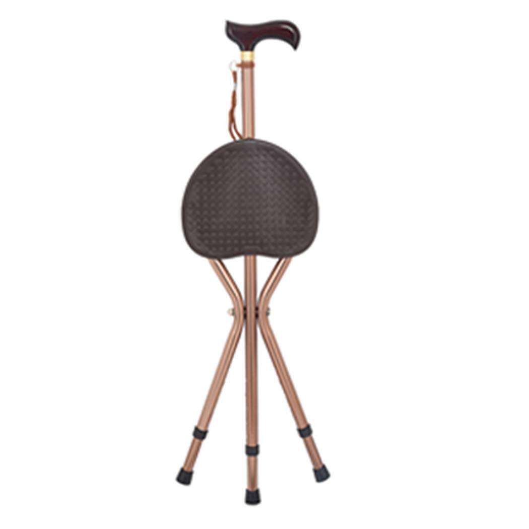 【即納】 YGUOZ 杖椅子 折りたたみ brown 杖椅子 アルミ、木製 T ハンドル ユニセックス、ステッキ椅子 5 高さ調節可能、ステッキ 携帯型 軽量 アルミ B07PJ2BV6F brown, JOKnet:5f5ad44b --- a0267596.xsph.ru