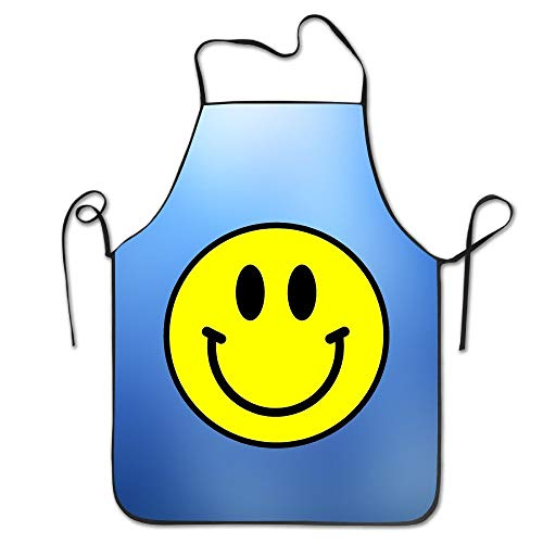 notebepisse Polyester Material Excited Smiley Face - Aprons Smiley Face