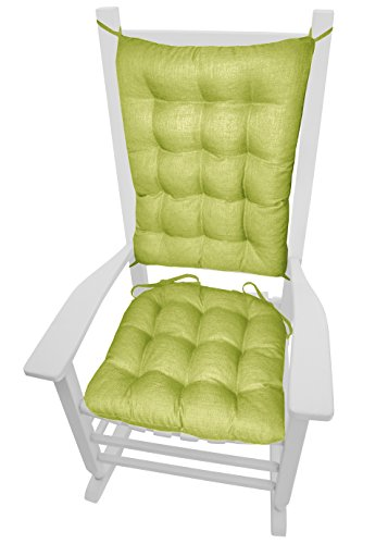 (Barnett Products Porch Rocker Cushions - Rave Pear Green - Size Standard - Indoor/Outdoor: Fade Resistant, Mildew Resistant - Latex Foam Fill, Reversible, Machine Washable)
