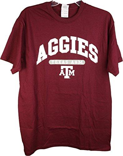 ncaa-tsi-sportswear-texas-am-aggies-arch-logo-series-adult-tee-shirt-large
