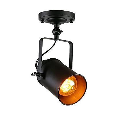Metal Wall Sconce, Industrial Ceiling Spotlight Adjustable Track Lighting Ceiling Light for Living Room/Bedroom/Dining Room/Kitchen/Bathroom