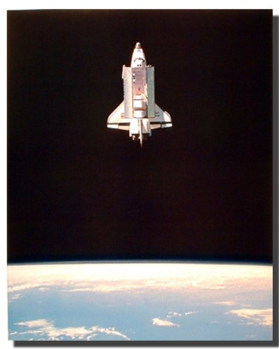 Space Shuttle in Space NASA Educational Wall Decor Art Print Poster