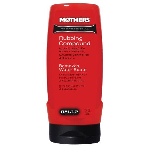 Mothers 08612-6PK Professional Rubbing Compound - 12 oz., (Pack of 6)