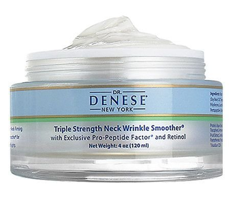 Dr. Denese Triple Strength Wrinkle Smoother Neck Cream 4 Oz (120 Ml) Super Size, Intensive Anti-wrinkle by Dr. Denese