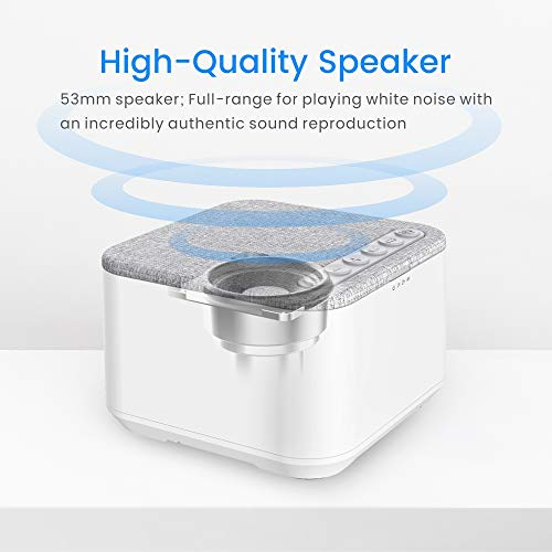 White Noise Machine, X-Sense Sleep Sound Machine with 40 Non-Looping Soothing Sounds and High Quality Speaker, 30 Levels of Volume, 7 Timer Settings and Memory Function for Home, Office and Travel by xSense (Image #2)