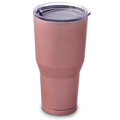Rose Gold Double Wall Insulated Stainless Steel Travel Tumbler, 30 oz.