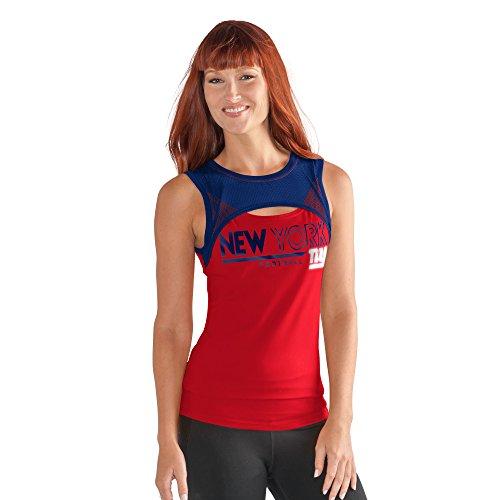 GIII For Her NFL New York Giants Women's Power up! Tank, Medium, Red -