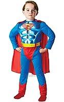 Metallic Chest Superman Costume - Small 3/4 Years