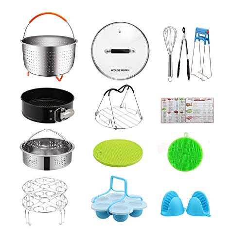 Gift Pack Accessories Set for Pressure Cookers, Universal Compatible with 5/6/8 Qt - Original Sturdy Steamer Basket with Instant Pot Accessories for All of Life