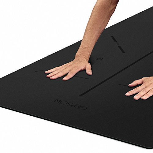 YOOMAT 7mm Kautschuk Yogamatte, Männliche und Weibliche Fitness Matte Professionelle Erweiterung Rutschfeste Yogamatte 183 cm  61 cm