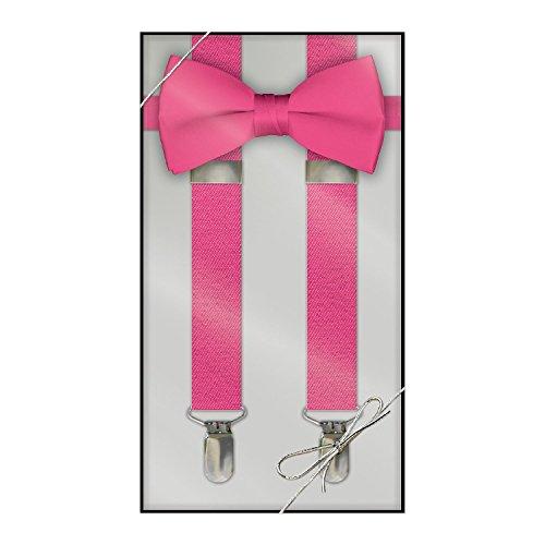 Kids Fuchsia Purple Apparel (Suspender & Bow Tie Set (Kids,)
