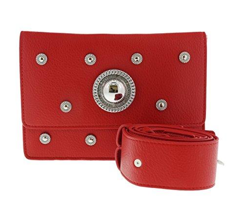 Versace Jeans - Bolso cruzados para mujer rojo rojo S
